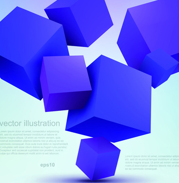 set of 3d elements vector illustration art