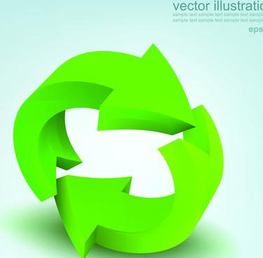 set of 3d elements vector illustration art