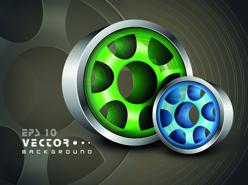 set of 3d objects from vector background graphic