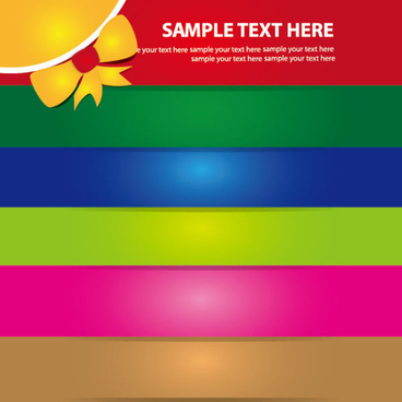 set of abstract color template background vector