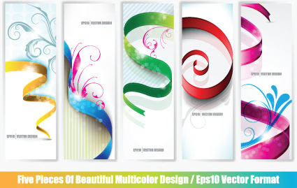 set of abstract info vertical banner vector