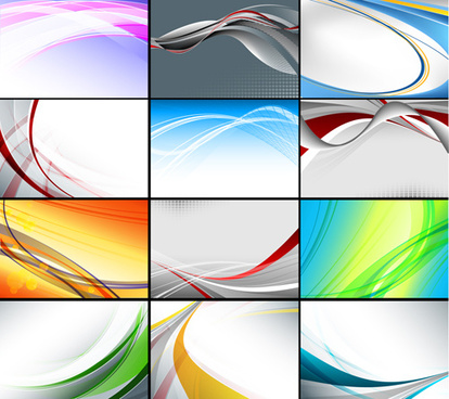 set of abstract vector backgrounds art
