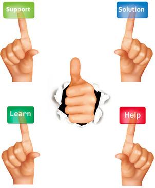 set of all ok gesture design vector