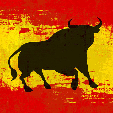 set of angry bulls design vector