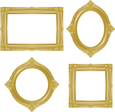 Antique gold frame vector free vector download (8,300 Free vector ...