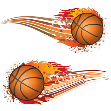 set of basketball design elements vector