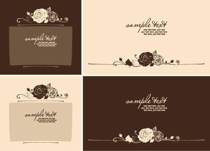 set of beautiful wedding cards design vector