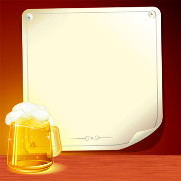 set of beer and paper poster vector graphic