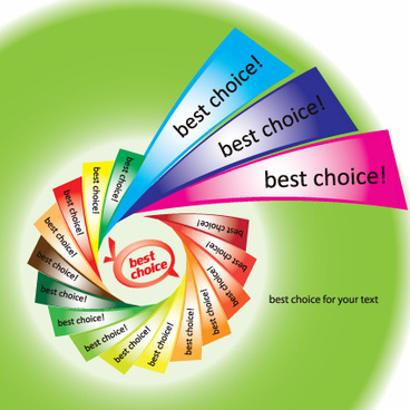 set of best choice sticker vector graphic