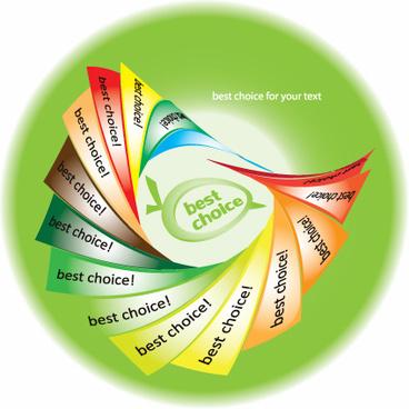 set of best choice sticker vector graphic