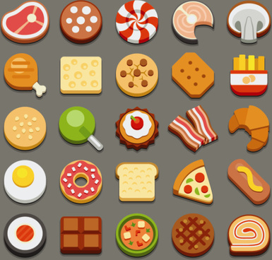 set of best food icons vectors graphics
