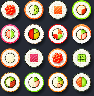 set of best food icons vectors graphics