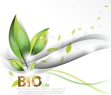 set of bio life vector backgrounds