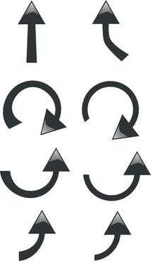 Set Of Black Arrows clip art