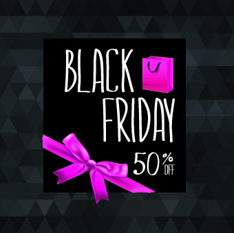 set of black friday sale elements vector