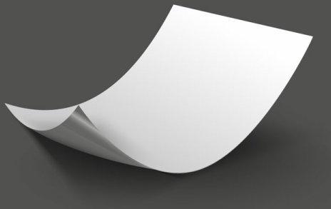 set of blank paper design vector