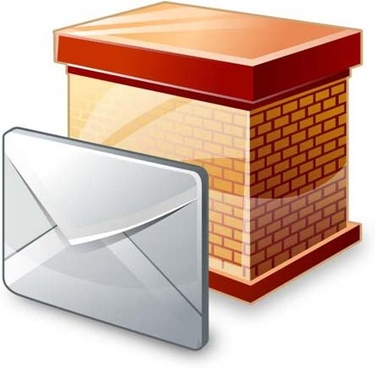 set of block email icon vector