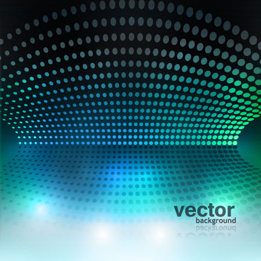 set of blue grid vector background vector