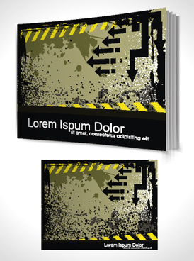 set of book cover design template vector graphics