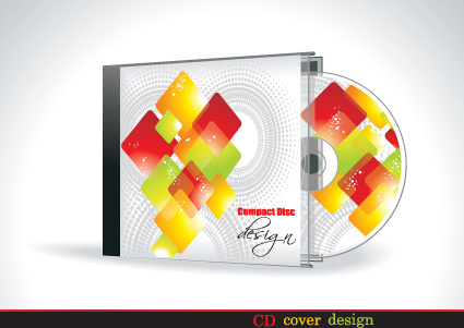 set of box dvd disc and dvd cover vector