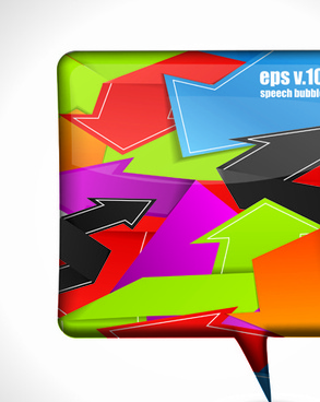 set of bright colored banners vector