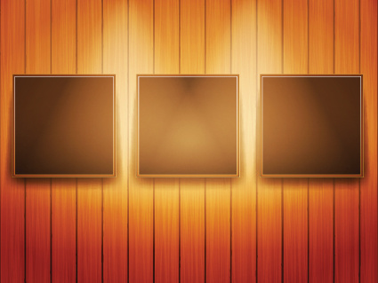 set of bright frame on a wooden wall vector