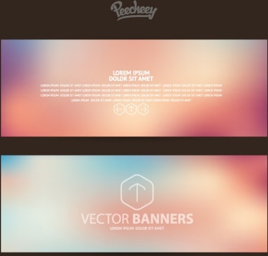 set of business banners
