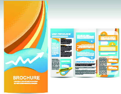 set of business brochure cover vector