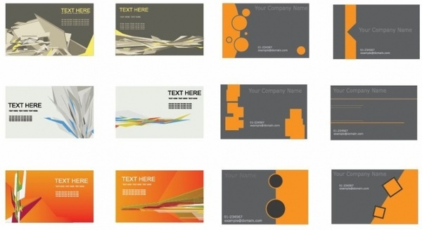 Free clipart for business cards free vector download 109352 free set of business cards vector reheart Choice Image