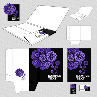 set of business identity kit template design vector