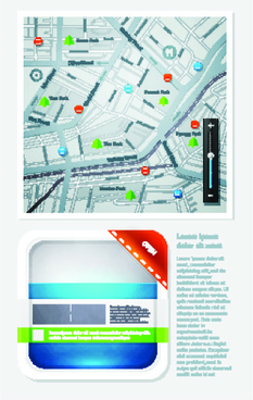 set of business infographics vector