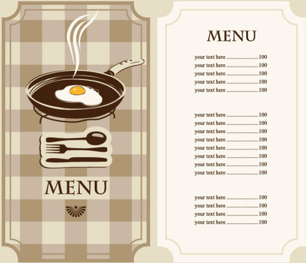 Set Of Cafe And Restaurant Menu Cover Template Vector