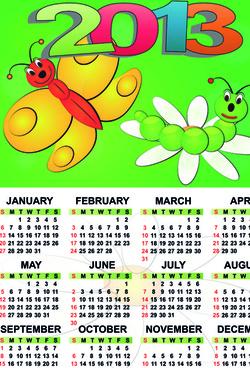 set of calendar13 design elements vector