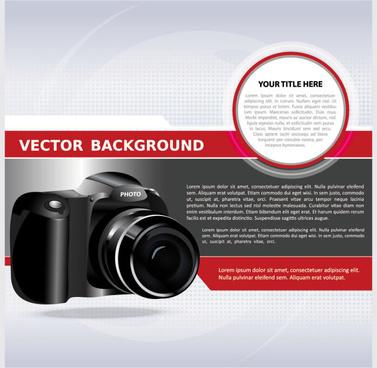 set of camera background vector