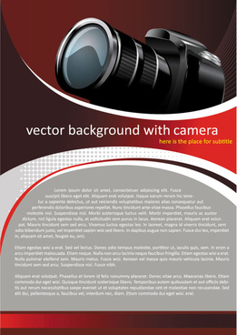 set of camera background vector