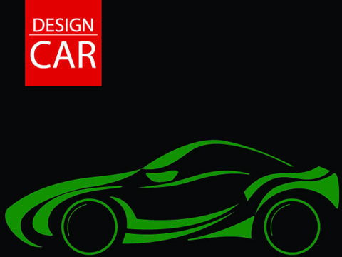 set of car design elements vector graphic