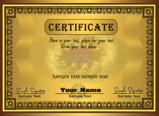 set of certificate and diploma vector templates