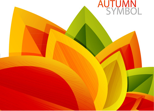 set of charm autumn backgrounds vector