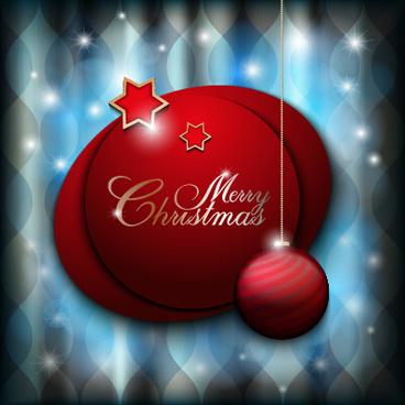 set of christmas ball creative vector design