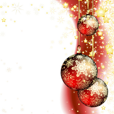 set of christmas balls decor backgrounds vector