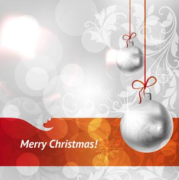set of christmas balls decor backgrounds vector