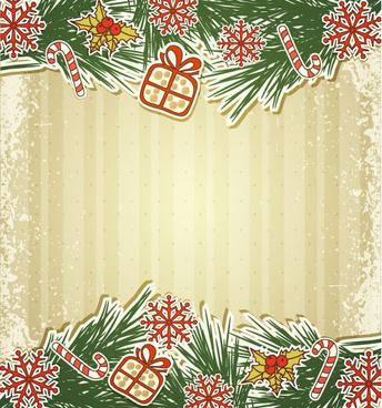 set of christmas design vector background