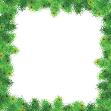 set of christmas needles frames vector