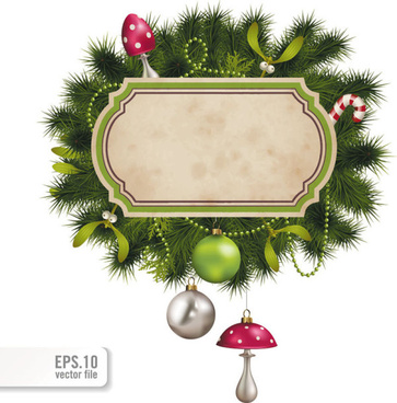 set of christmas pine needles backgrounds vector