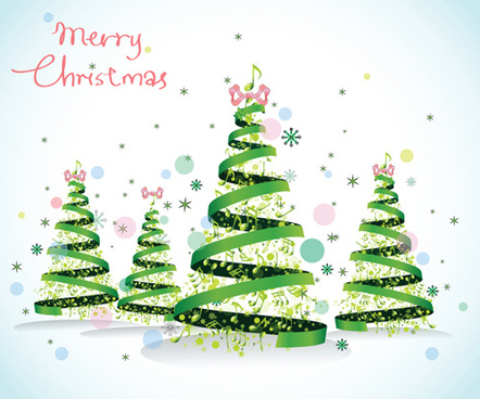 set of christmas theme cards elements vector
