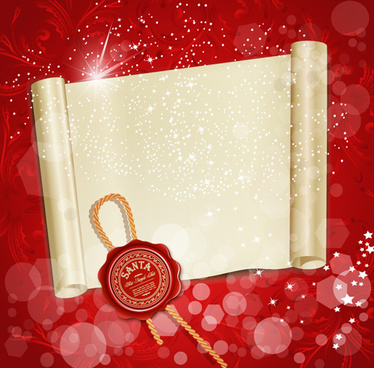 set of christmas wax seal elements vector graphics