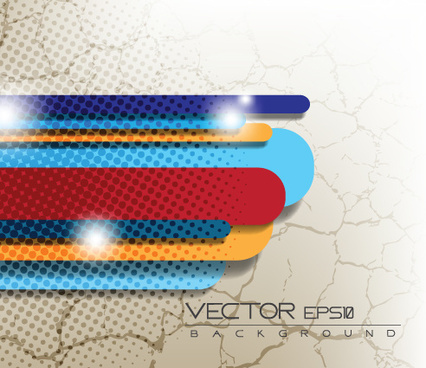 set of color abstract vector background art
