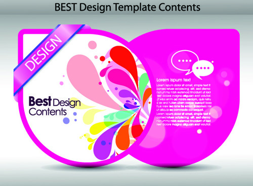 set of colorful design label vector graphics