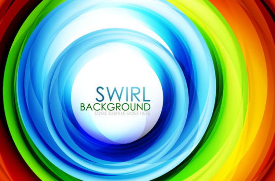 set of colorful swirl abstract vector background