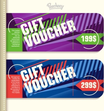 set of commercial vouchers